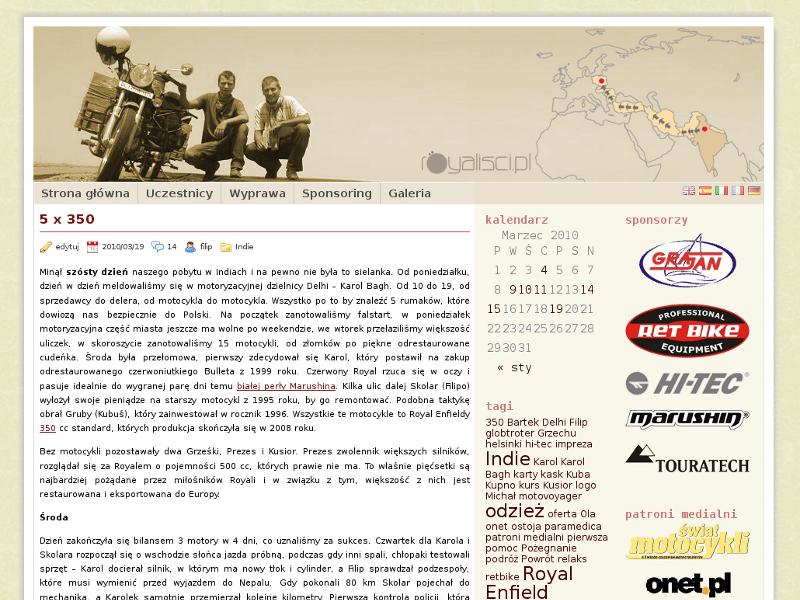 royalisci.pl - serwis oparty na silniku wordpress