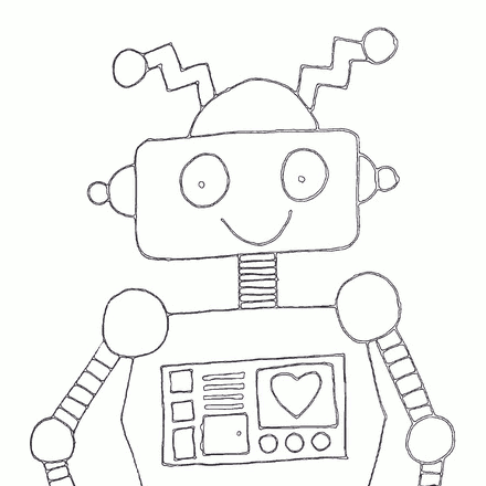 Robot Embroidery Pattern by jo^4, on Flickr